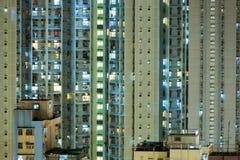 Ciel de Hong Kong la nuit Photographie stock libre de droits