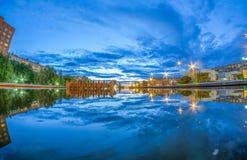 Ciel de l'eau Photo libre de droits