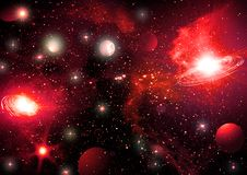 Ciel de l'espace Photo stock