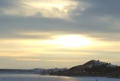 Ciel de l'hiver Photographie stock libre de droits