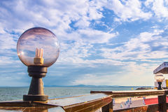 Ciel de lampe d'Eco Image libre de droits