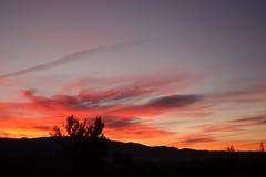 Ciel de lever de soleil Photos stock