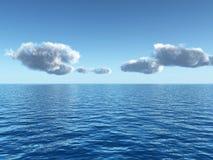 Ciel de mer illustration de vecteur