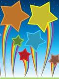 Ciel de mouche d'étoile d'arc-en-ciel illustration stock