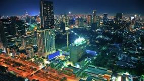 Ciel de Nigth au-dessus de ville Image libre de droits