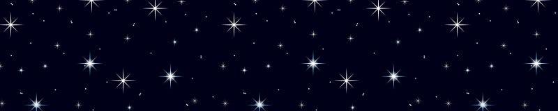 Ciel de nuit étoilé illustration stock