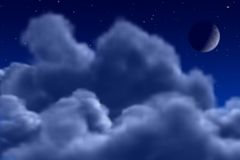 Ciel de nuit Photo stock