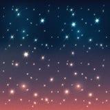 Ciel de nuit avec des étoiles. Fond abstrait illustration de vecteur