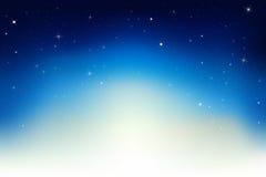 Ciel de nuit avec des étoiles. Vecteur illustration de vecteur