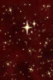 Ciel de nuit de souhait lumineux d'étoile   Images libres de droits