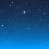 Ciel de nuit de souhait lumineux d'étoile   illustration libre de droits