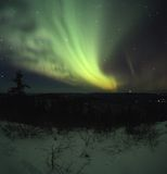 Ciel de nuit rougeoyant Image libre de droits