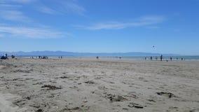 Ciel de plage de la Nouvelle Zélande Nelson Image stock