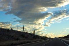 Ciel de route de montagne Photographie stock libre de droits