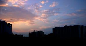 Ciel de soirée Photos libres de droits