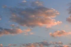 Ciel de soirée Photos stock