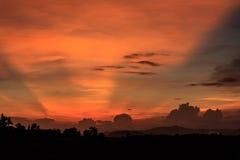 Ciel de soirée en Thaïlande Photographie stock