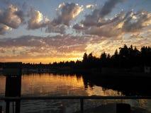 Ciel de soirée en Washington State Photographie stock libre de droits