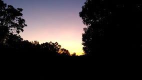 ciel de soirée sur la Corse Images stock