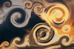Ciel de Swirly image libre de droits