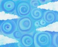 Ciel de Swirly illustration libre de droits