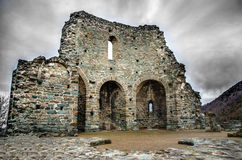 Ciel de tempête de ruines Photographie stock libre de droits