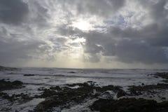 Ciel de tempête en mer Image libre de droits
