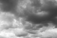Ciel de tempête, nuages pluvieux Photo libre de droits