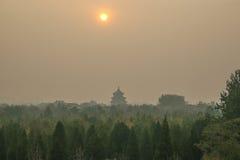 Ciel de temple Pékin images libres de droits