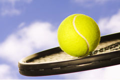 Ciel de tennis Photos libres de droits