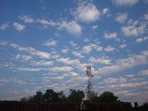 ciel de village très doux pour le voir Photographie stock