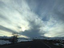 Ciel du Colorado de début de la matinée Photo libre de droits