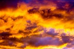 Ciel du feu Photo stock