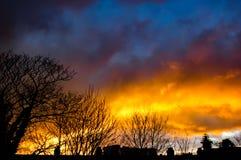 Ciel du feu Photo libre de droits