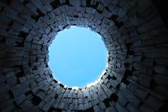 Ciel du puits photo libre de droits