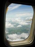 Ciel en tant qu'hublot vu d'un aéronef Photos libres de droits