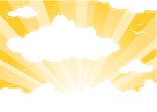 Ciel ensoleillé avec des nuages illustration stock