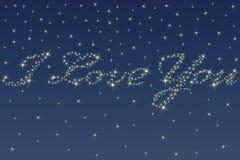 Ciel et étoiles de nuit Image stock