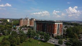 Ciel et bâtiments de Montréal Images libres de droits