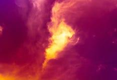 Ciel et feu Photographie stock libre de droits