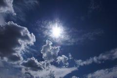 Ciel et le soleil Photos stock