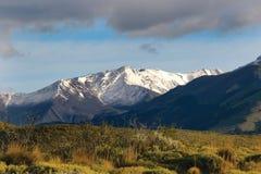 Ciel et montagnes de Patagonia Photo libre de droits