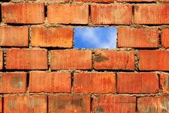 Ciel et mur Photographie stock