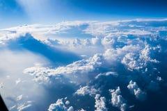 Ciel et nuage d'avion Image stock