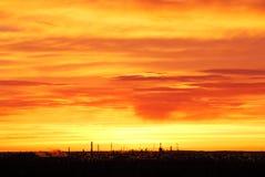 Ciel et nuages attrayants au lever de soleil Photographie stock libre de droits
