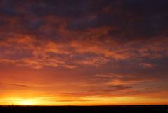 Ciel et nuages au lever de soleil Image libre de droits