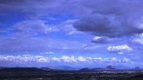 Ciel et nuages de laps de temps beaux banque de vidéos