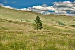 Ciel et nuages sur les collines Photographie stock libre de droits