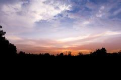 Ciel et silhouette Photographie stock libre de droits