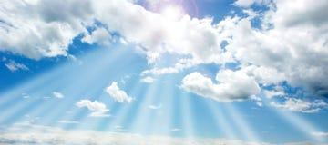 Ciel et soleil Image stock